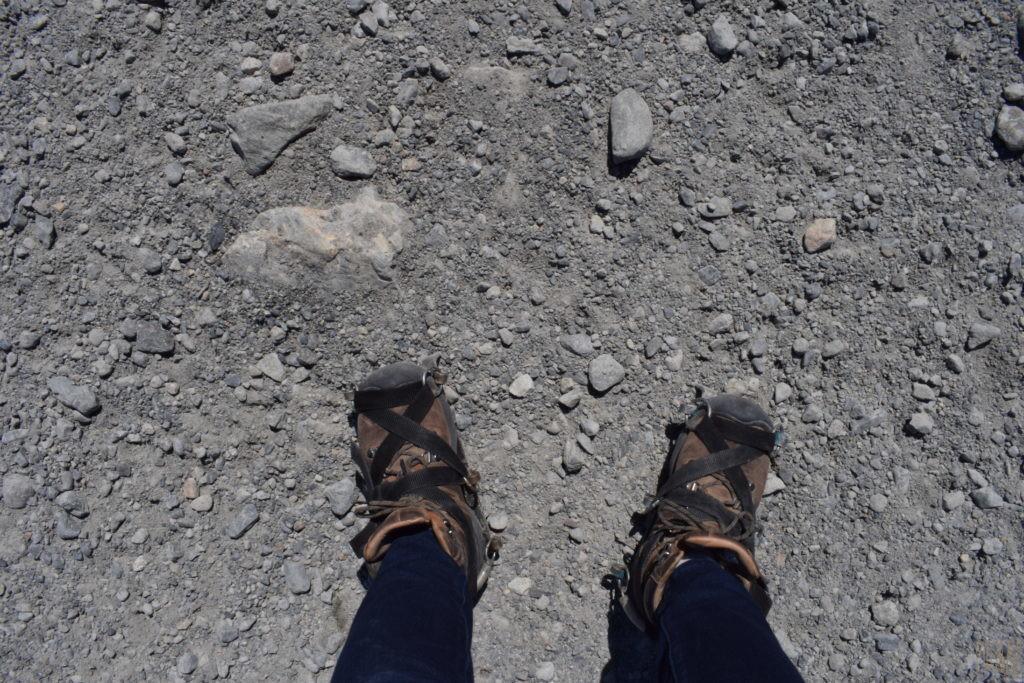 靴に装着したクランボン