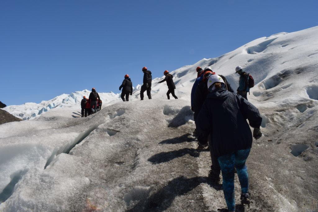 氷河をのぼる