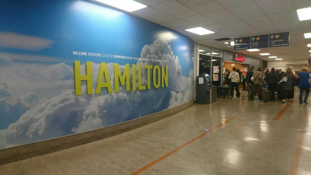 Hamilton John C. Munro International Airport entrance
